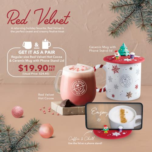CBTL Limited Time Bundle - Red Velvet  Ceramic Mug