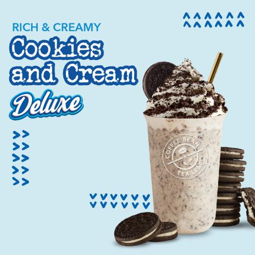 Coffee Bean Cookies & Cream Deluxe Ice Blended