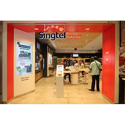 SingTel Exclusive Retailer Shopfront