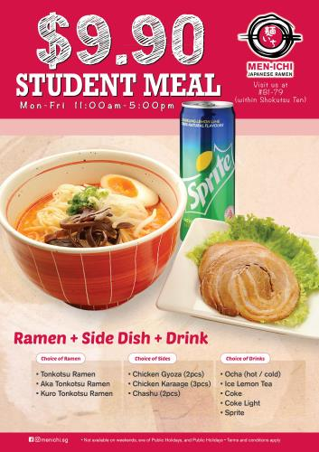 Men-ichi Student Meal A4