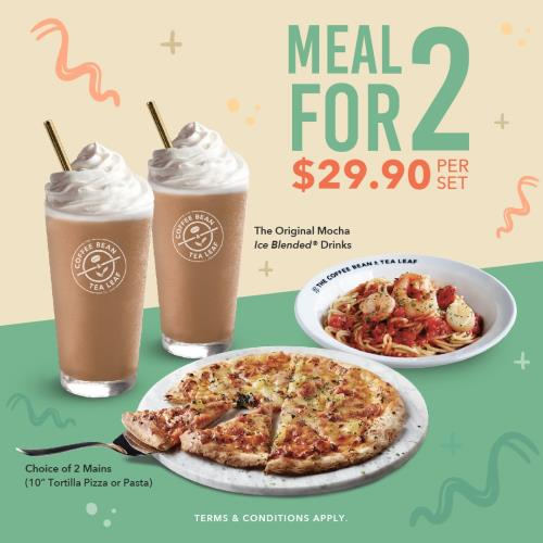 Coffee Bean All-Day Meal For 2
