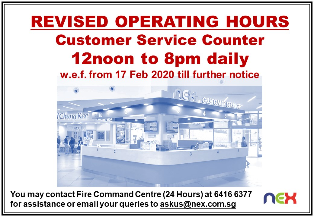 CS Ctr Revised Operating Hours dd 17Feb2020
