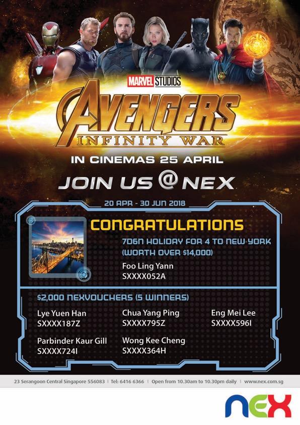 NEX_Avengers Infinity War Lucky Draw_18Jul