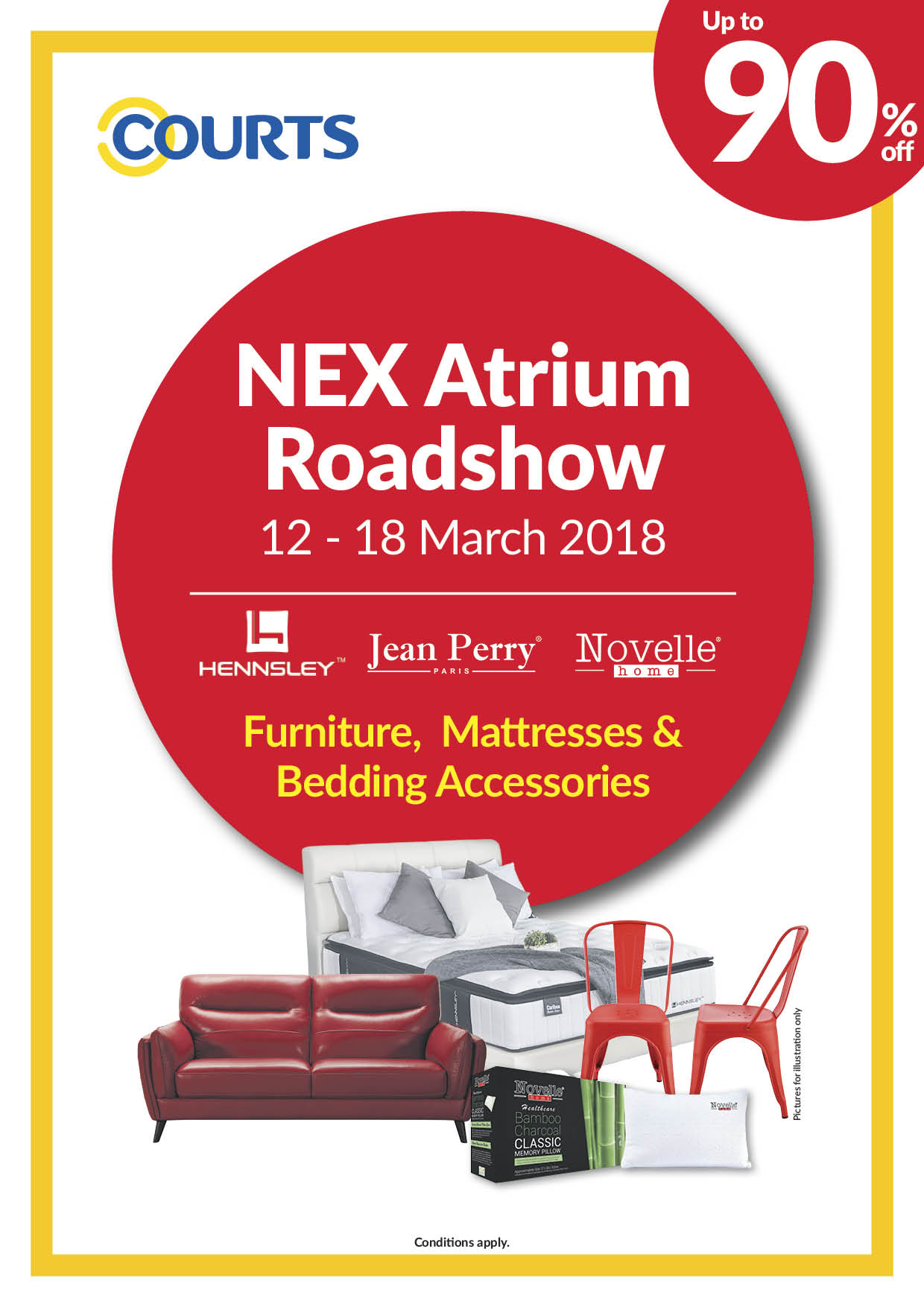 COURTS Nex Atrium Roadshow_12-18Mar2018