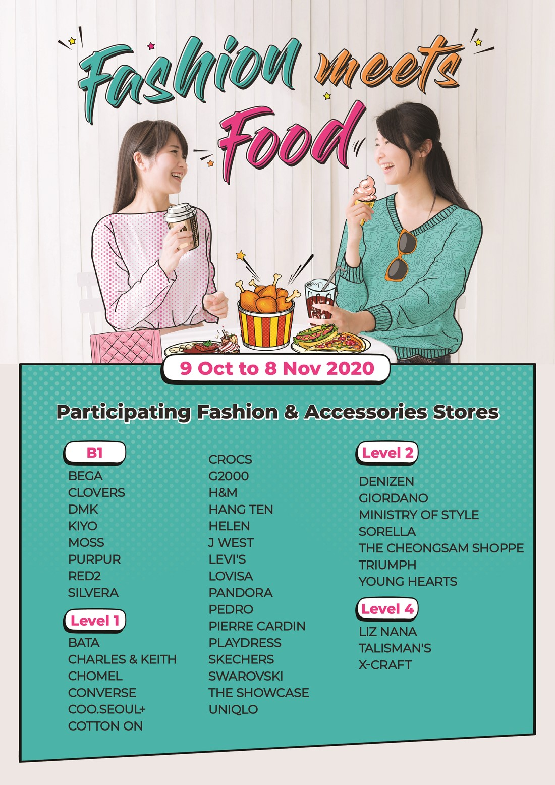 A4 participating list poster