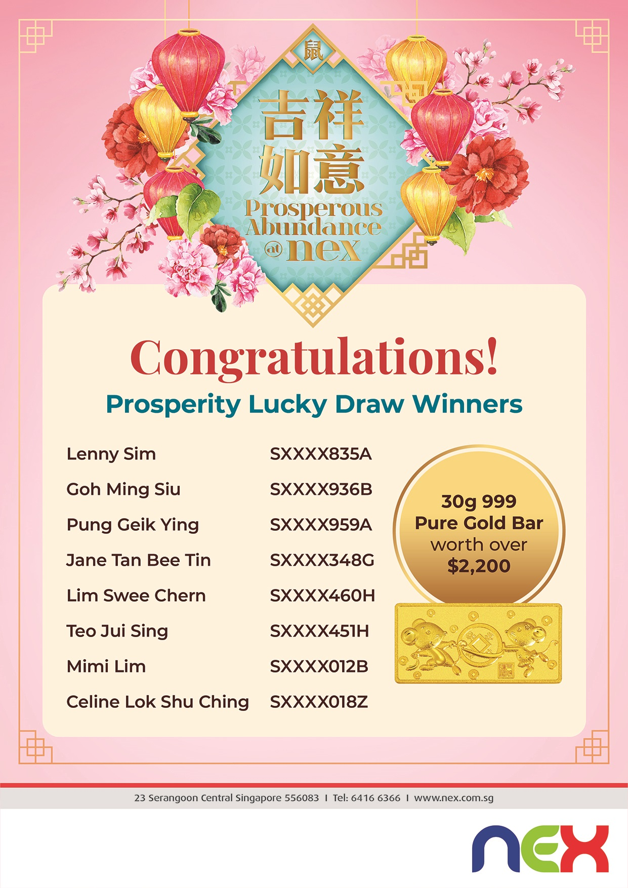 4609NEX_Lunar New Year 2020_A4 Lucky Draw Winners Result_FINAL