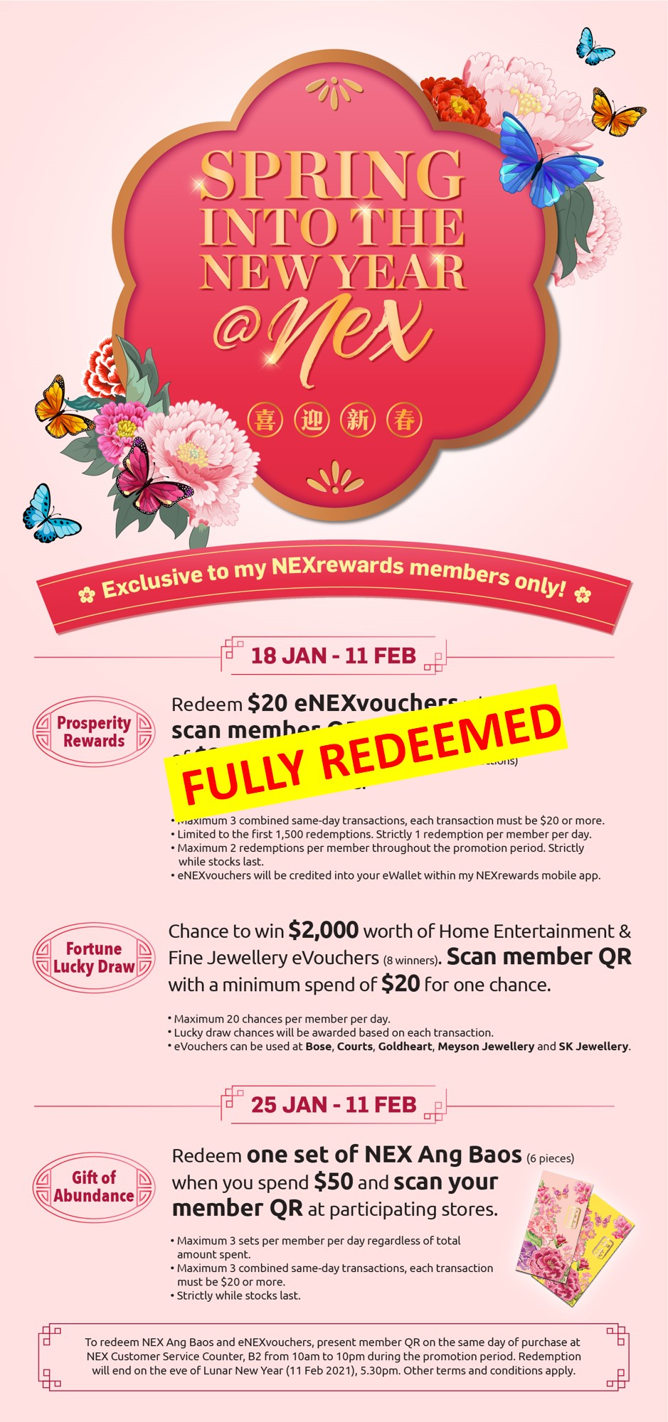 Spring Into The New Year_Rewards fully redeemed